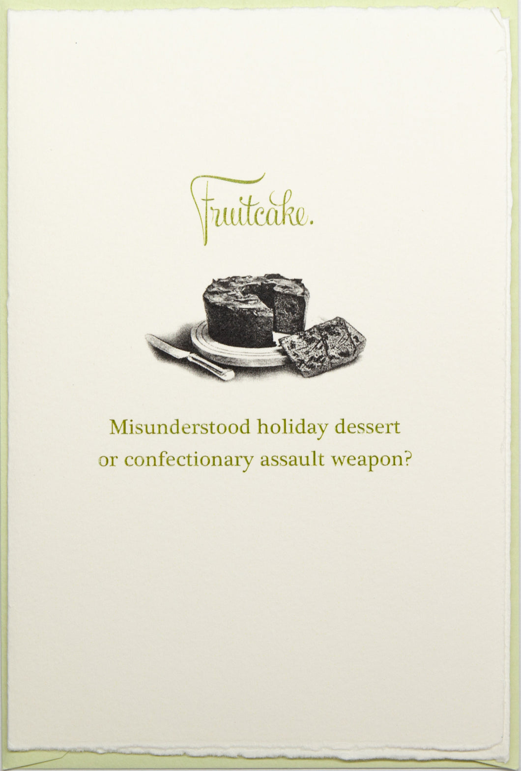 Fruitcake: Dessert or Weapon?