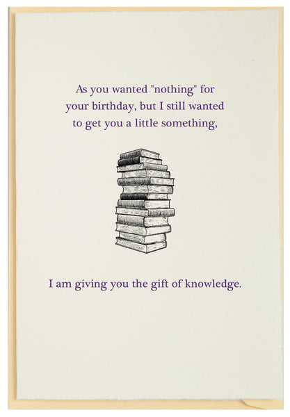 Gift of Knowledge Birthday