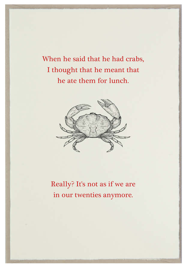 Crabs? At this age?! 1