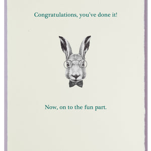 Smart Bunny with Congrats to You!