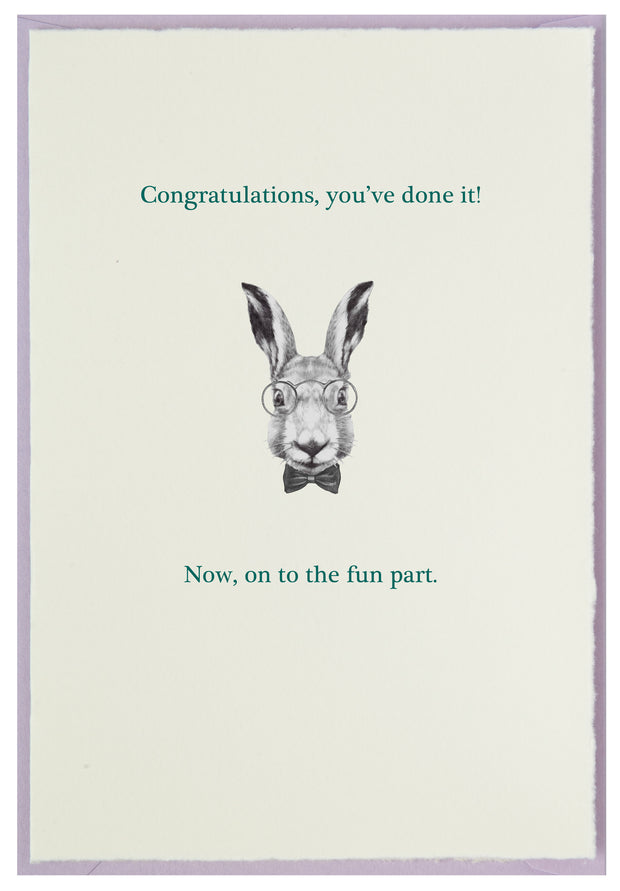 Smart Bunny with Congrats to You! 1