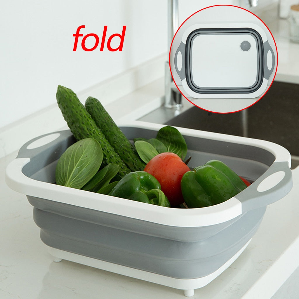 Foldable Multi-Function Cutting Board