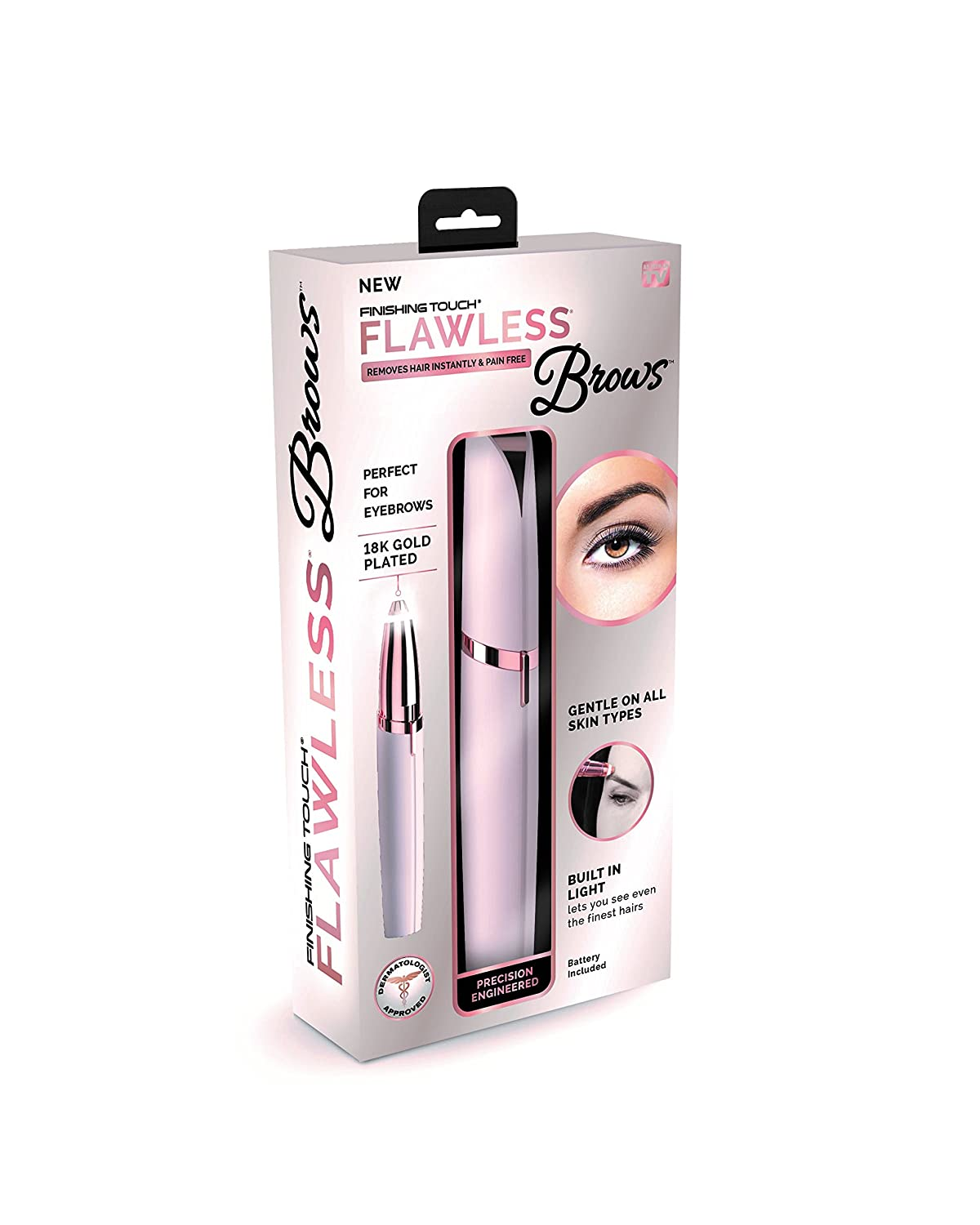 FLAWLES EYEBROW TRIMMER + FACIAL HAIR REMOVER ( COMBO OFFER )