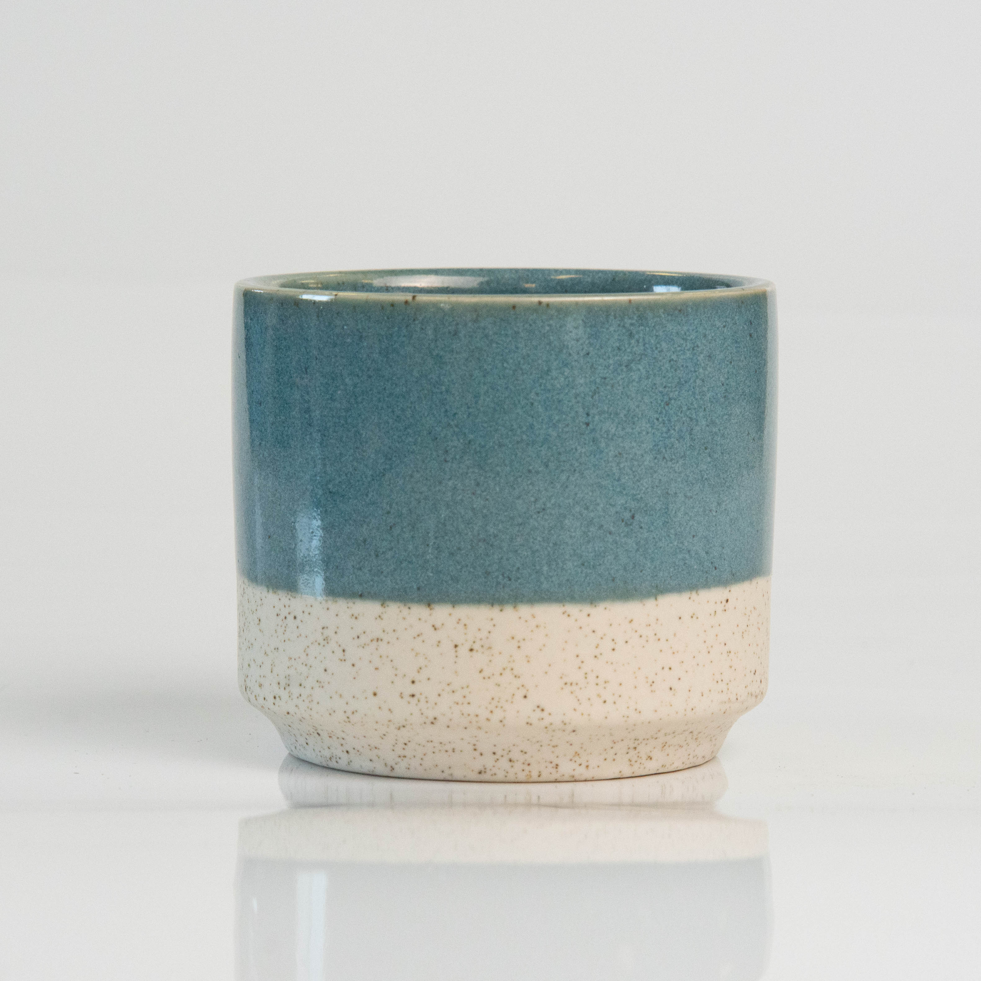 3 Inch Teal Top Ceramic Pot