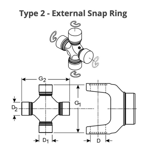 55mm External Snap Ring Spring Steel DSH-055 USA Pkg of 50 Stamped Standard Duty DIN 471