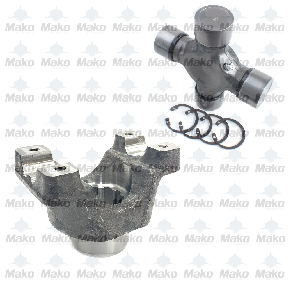 4-4-2401-1 Drive Shaft End Yoke 10 Spline & 5-155X Universal Joint 1550 Series