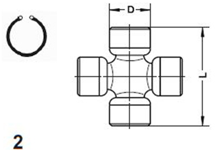Front or Rear Shaft Universal Joint for 1966-1980