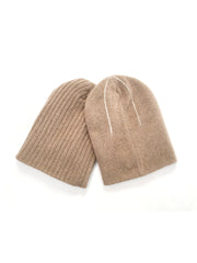 REVERSIBLE CASHMERE BEANIE  Camel
