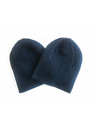 REVERSIBLE CASHMERE BEANIE  Midnight