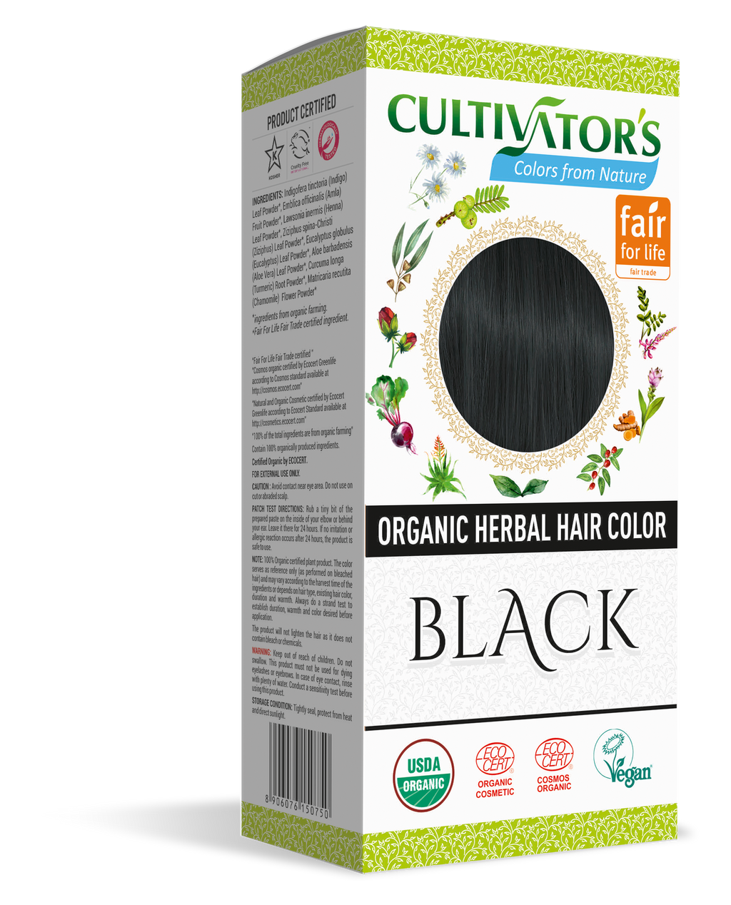 Cultivator's Organic Herbal Hair Color Black - Shop Now Online