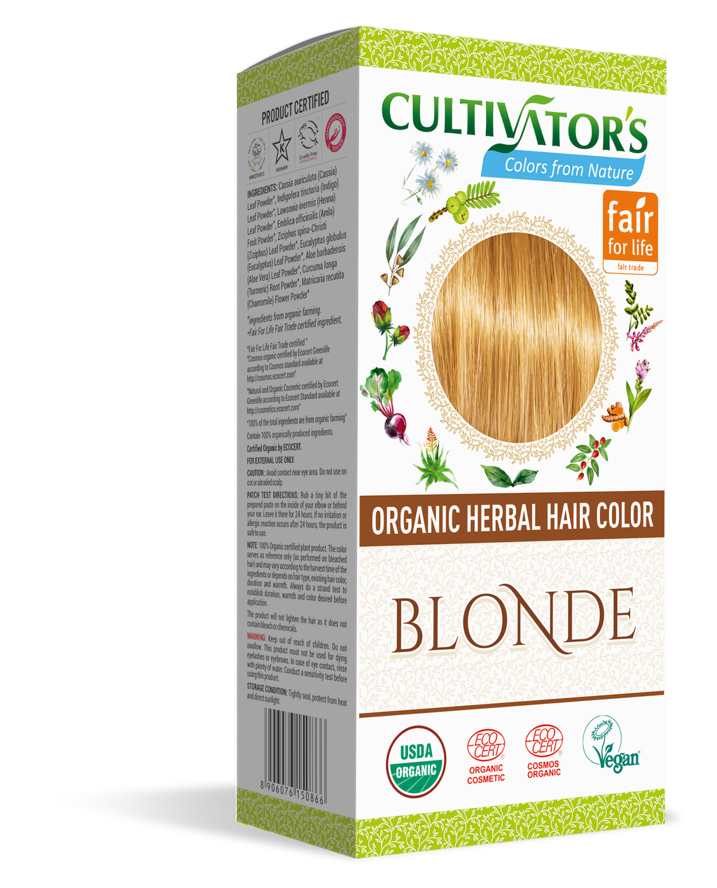 Order Online | Cultivator's Organic Herbal Hair Color Blonde