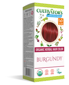 Cultivators Organic Herbal Hair Color Burgundy | Shop Online