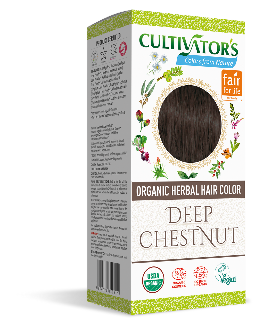 Order Now | Organic Herbal Hair Color Deep Chestnut | Cultivators