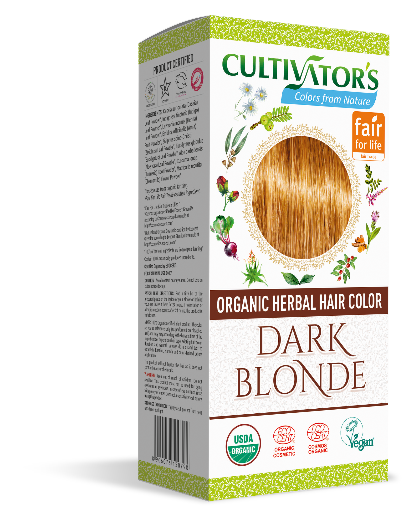 Explore Now | Organic Herbal Hair Color Dark Blonde by Cultivators