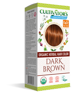 Explore: Cultivator's Certified Organic Herbal Hair Color Dark Brown