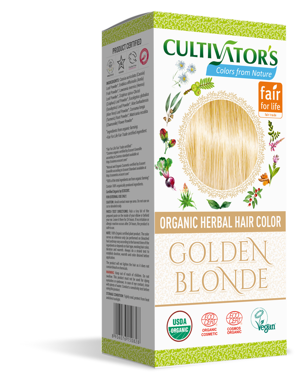 ORGANIC HERBAL HAIR COLOR GOLDEN BLONDE
