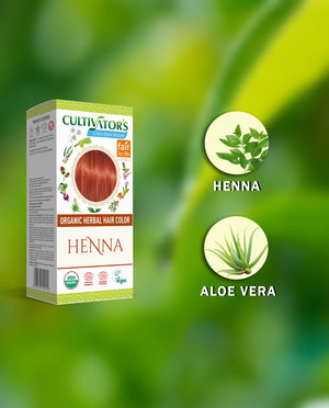 Explore 100% Certified Organic Herbal Hair Color Henna | Cultivators