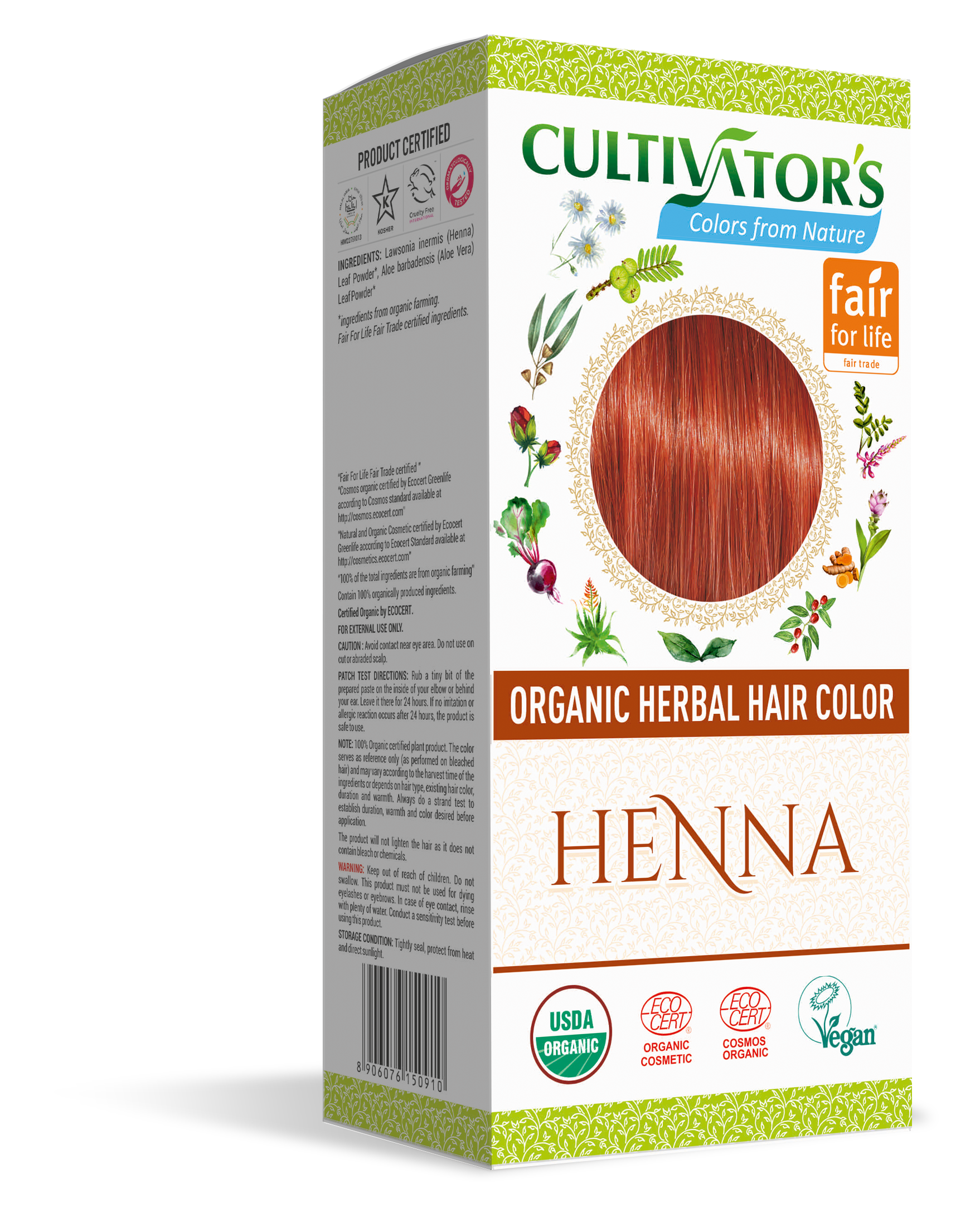 ORGANIC HERBAL HAIR COLOR HENNA