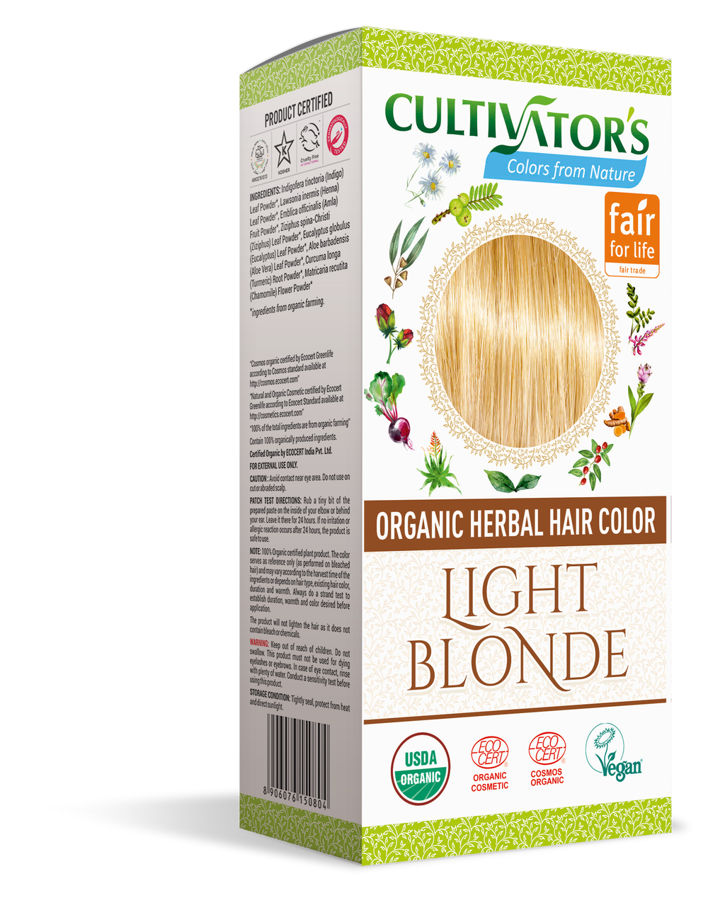 ORGANIC HERBAL HAIR COLOR LIGHT BLONDE