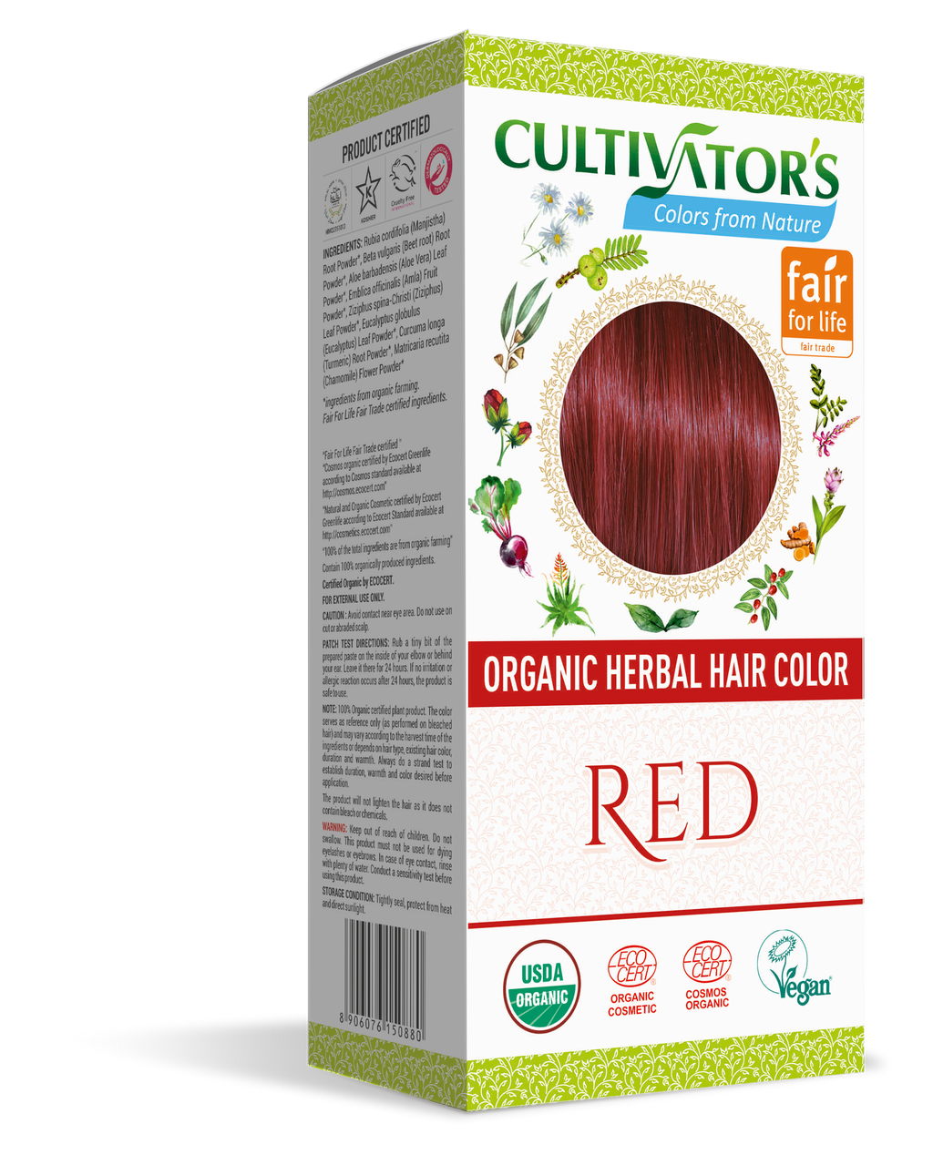ORGANIC HERBAL HAIR COLOR RED