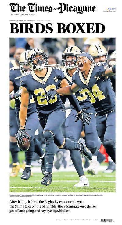 Times-Picayune Saints Divisional Champs Poster