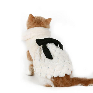 Luxury Fur Winter Cat Overcoat
