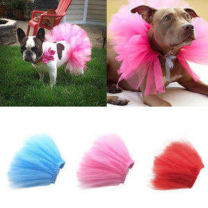 Dog Bow Tutu Lace Dress