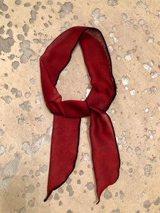 DARK RED Tie Rag