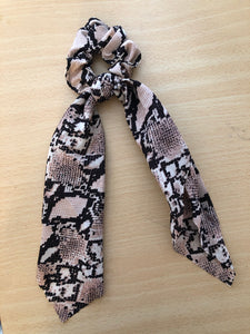 SNAKE Scrunchie with Tie