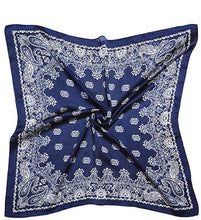 "Load image into Gallery viewer, 27"" x 27"" RIO Navy Bandana Rag"