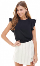 Load image into Gallery viewer, Alex Black Ruffle Blouse