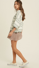 Load image into Gallery viewer, Angie Mink Stripe Sweater