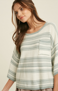 Angie Mink Stripe Sweater
