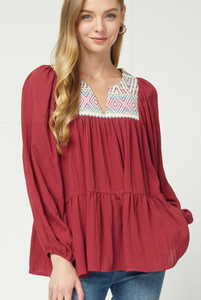 Becky Embroider Blouse