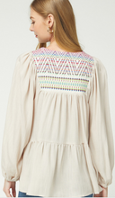 Load image into Gallery viewer, Becky Embroider Blouse