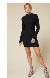 Black Ribbed Cut Out Dress