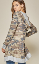 Load image into Gallery viewer, Camo Hoodie Cardigan
