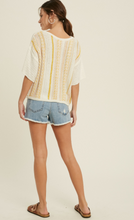 Load image into Gallery viewer, Ellie Short Sleeve Sweater Top
