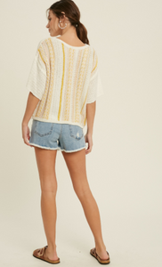 Ellie Short Sleeve Sweater Top
