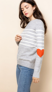 Hearts Stripe Sweater