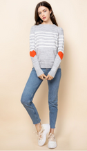 Load image into Gallery viewer, Hearts Stripe Sweater
