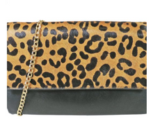 Load image into Gallery viewer, Fold Over Leopard Clutch