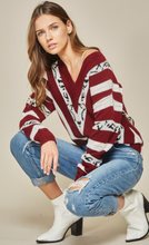 Load image into Gallery viewer, Burgundy Leopard Sweater