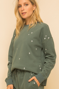 Pine Embroidered Sweatshirt
