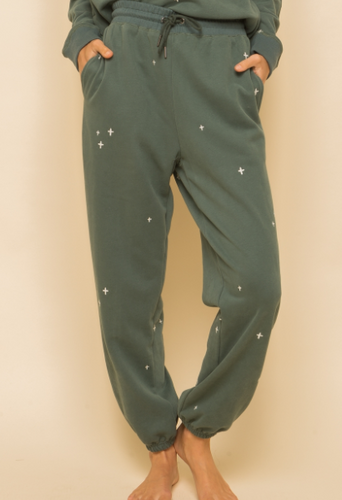 Pine Embroidered Sweatpants