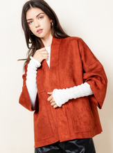 Load image into Gallery viewer, Rust Suede Kimono