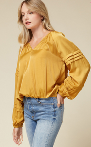 Satin V-Neck Top