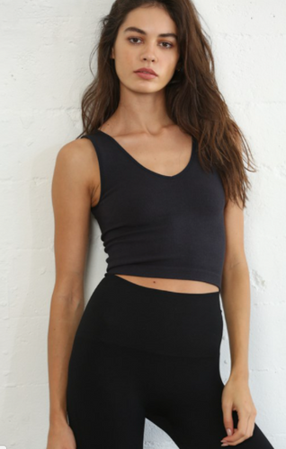 Seamless Ribbed Crop Tank