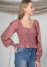Load image into Gallery viewer, Tory Smocked Ruffle Top