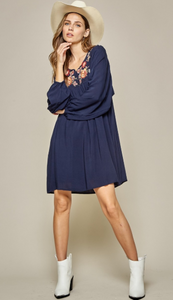 Hazel Navy Dress